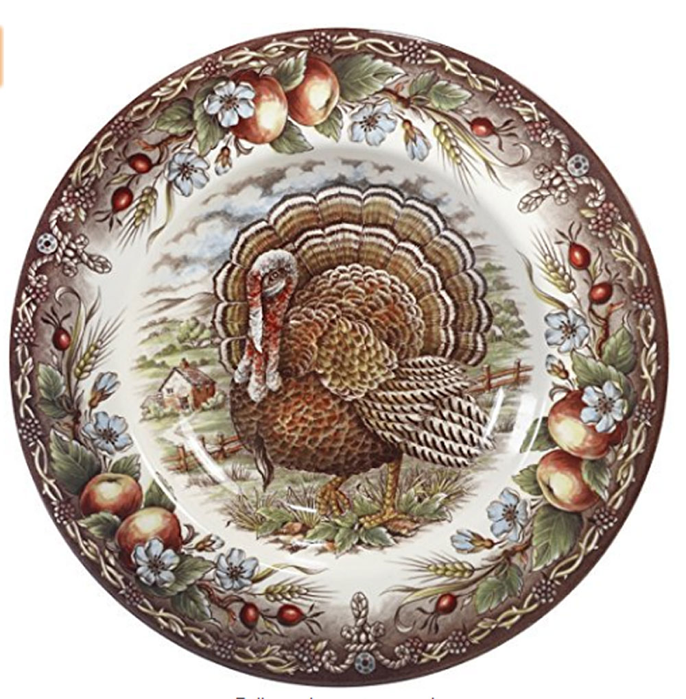 Turkey Rim Soup 9 3/4   sc 1 st  Winterfield Gifts & Cuthbertson Turkey Pattern Dinnerware