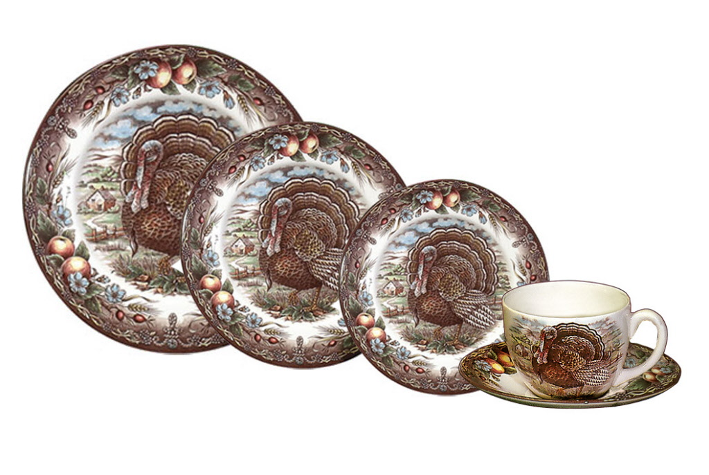 Turkey 20 Piece Place Setting  sc 1 st  Winterfield Gifts & Cuthbertson Turkey Pattern Dinnerware