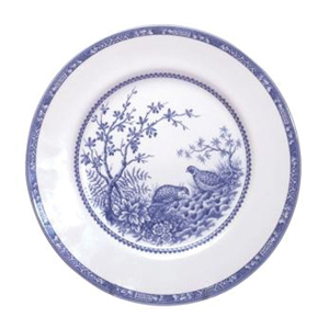Blue Quail Salad Plate 8 1/4   sc 1 st  Winterfield Gifts & Cuthbertson Dinnerware Quail Pattern - Blue and Brown